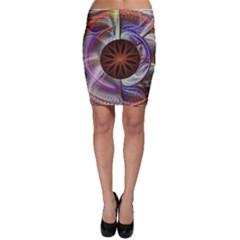 Background Image With Hidden Fractal Flower Bodycon Skirt
