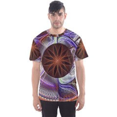Background Image With Hidden Fractal Flower Men s Sport Mesh Tee