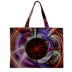 Background Image With Hidden Fractal Flower Mini Tote Bag