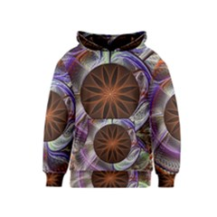 Background Image With Hidden Fractal Flower Kids  Pullover Hoodie