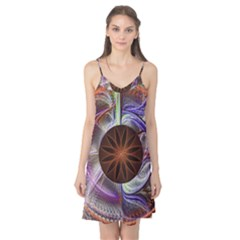 Background Image With Hidden Fractal Flower Camis Nightgown