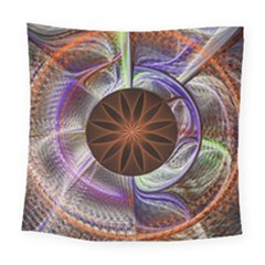 Background Image With Hidden Fractal Flower Square Tapestry (large)