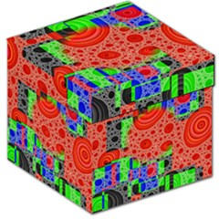 Background With Fractal Digital Cubist Drawing Storage Stool 12