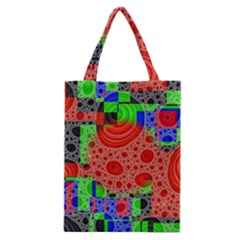 Background With Fractal Digital Cubist Drawing Classic Tote Bag