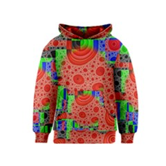 Background With Fractal Digital Cubist Drawing Kids  Pullover Hoodie