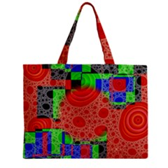Background With Fractal Digital Cubist Drawing Zipper Mini Tote Bag