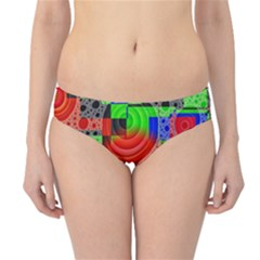 Background With Fractal Digital Cubist Drawing Hipster Bikini Bottoms