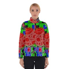 Background With Fractal Digital Cubist Drawing Winterwear