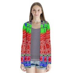 Background With Fractal Digital Cubist Drawing Cardigans