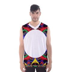 Symmetric Fractal Snake Frame Men s Basketball Tank Top
