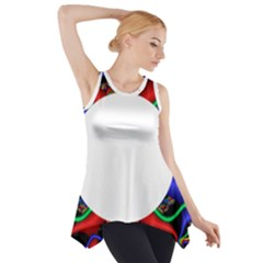 Symmetric Fractal Snake Frame Side Drop Tank Tunic