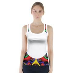 Symmetric Fractal Snake Frame Racer Back Sports Top