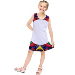 Symmetric Fractal Snake Frame Kids  Tunic Dress