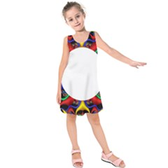 Symmetric Fractal Snake Frame Kids  Sleeveless Dress