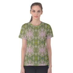 Digital Computer Graphic Seamless Wallpaper Women s Cotton Tee