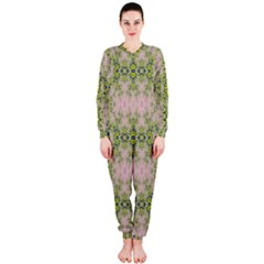Digital Computer Graphic Seamless Wallpaper Onepiece Jumpsuit (ladies)