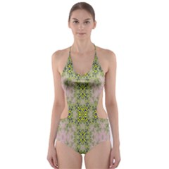 Digital Computer Graphic Seamless Wallpaper Cut Out One Piece Swimsuit