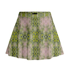 Digital Computer Graphic Seamless Wallpaper Mini Flare Skirt