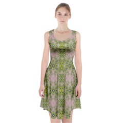 Digital Computer Graphic Seamless Wallpaper Racerback Midi Dress