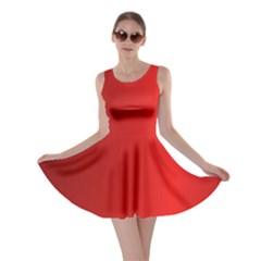 Red Gradient Fractal Backgroun Skater Dress
