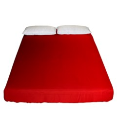 Red Gradient Fractal Backgroun Fitted Sheet (king Size)
