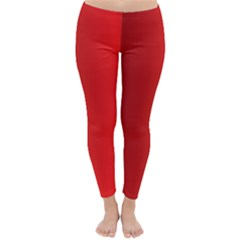 Red Gradient Fractal Backgroun Classic Winter Leggings