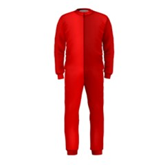 Red Gradient Fractal Backgroun OnePiece Jumpsuit (Kids)