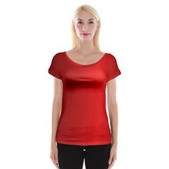 Red Gradient Fractal Backgroun Women s Cap Sleeve Top