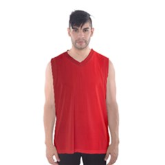 Red Gradient Fractal Backgroun Men s Basketball Tank Top