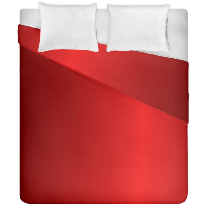 Red Gradient Fractal Backgroun Duvet Cover Double Side (California King Size)