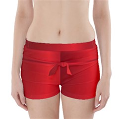 Red Gradient Fractal Backgroun Boyleg Bikini Wrap Bottoms