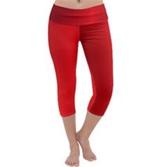 Red Gradient Fractal Backgroun Capri Yoga Leggings