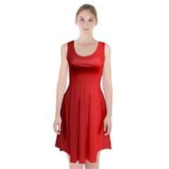 Red Gradient Fractal Backgroun Racerback Midi Dress