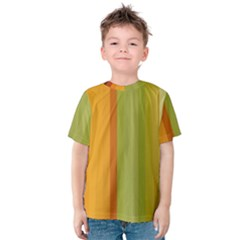 Colorful Citrus Colors Striped Background Wallpaper Kids  Cotton Tee