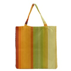 Colorful Citrus Colors Striped Background Wallpaper Grocery Tote Bag