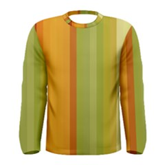 Colorful Citrus Colors Striped Background Wallpaper Men s Long Sleeve Tee