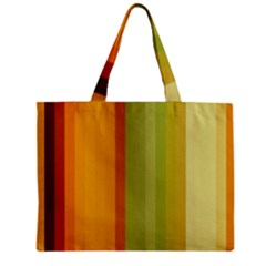 Colorful Citrus Colors Striped Background Wallpaper Zipper Mini Tote Bag