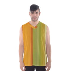 Colorful Citrus Colors Striped Background Wallpaper Men s Basketball Tank Top