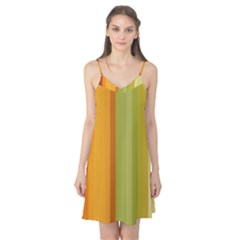 Colorful Citrus Colors Striped Background Wallpaper Camis Nightgown
