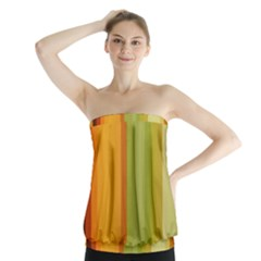Colorful Citrus Colors Striped Background Wallpaper Strapless Top