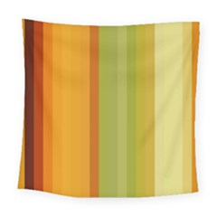 Colorful Citrus Colors Striped Background Wallpaper Square Tapestry (large)