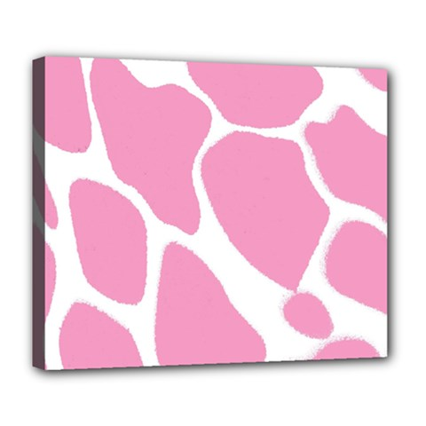 Baby Pink Girl Pattern Colorful Background Deluxe Canvas 24  X 20