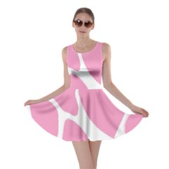 Baby Pink Girl Pattern Colorful Background Skater Dress