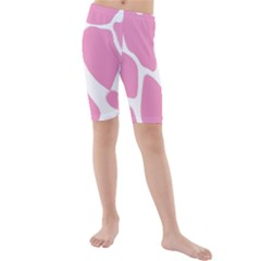 Baby Pink Girl Pattern Colorful Background Kids  Mid Length Swim Shorts
