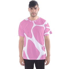 Baby Pink Girl Pattern Colorful Background Men s Sport Mesh Tee