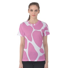 Baby Pink Girl Pattern Colorful Background Women s Cotton Tee