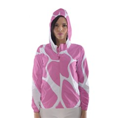 Baby Pink Girl Pattern Colorful Background Hooded Wind Breaker (women)