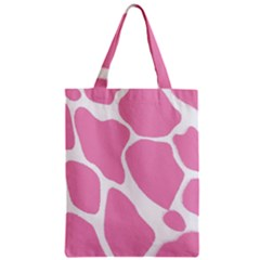 Baby Pink Girl Pattern Colorful Background Zipper Classic Tote Bag