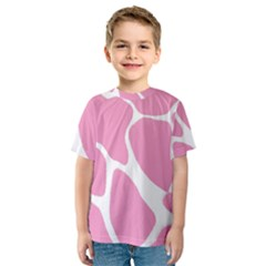 Baby Pink Girl Pattern Colorful Background Kids  Sport Mesh Tee