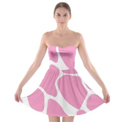 Baby Pink Girl Pattern Colorful Background Strapless Bra Top Dress